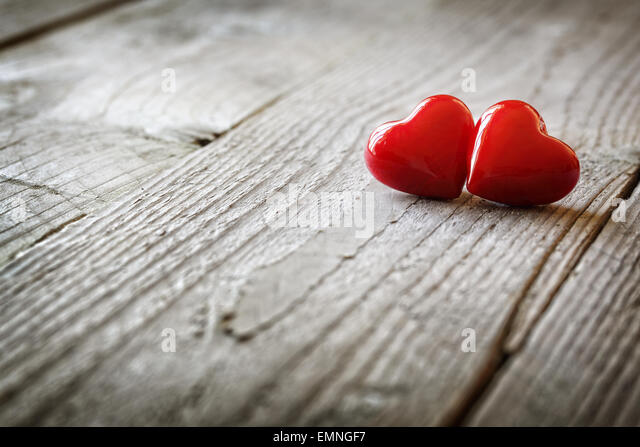 Two hearts in love - Stock-Bilder