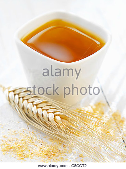 wheat oil - Stock Image