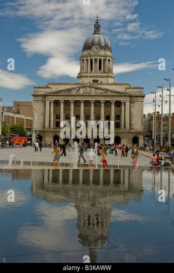 Nottingham City Hall, Nottingham, England. - Stock Image
