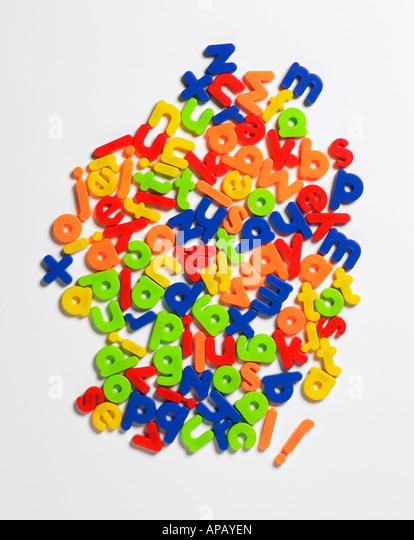 plastic letters - Stock-Bilder
