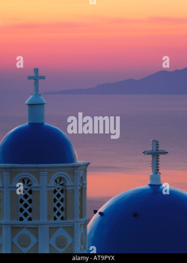 Dawn in Santorini - Stock-Bilder
