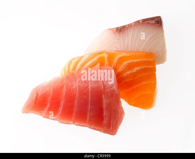 sashimi slices - Stock Image