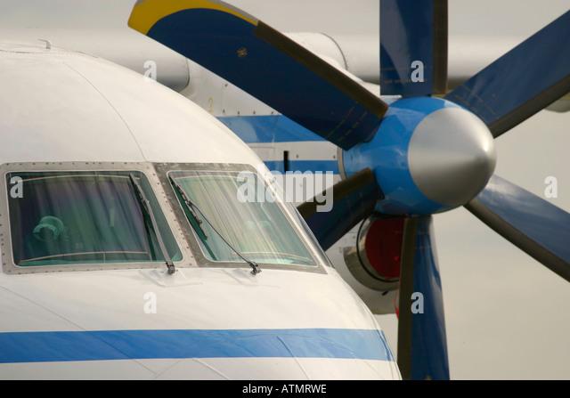 Close up of aeroplane - Stock Image