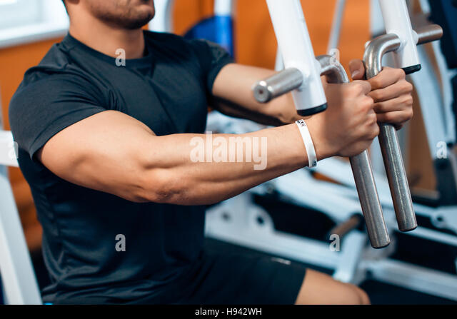 Athlete in the gym - Stock Image