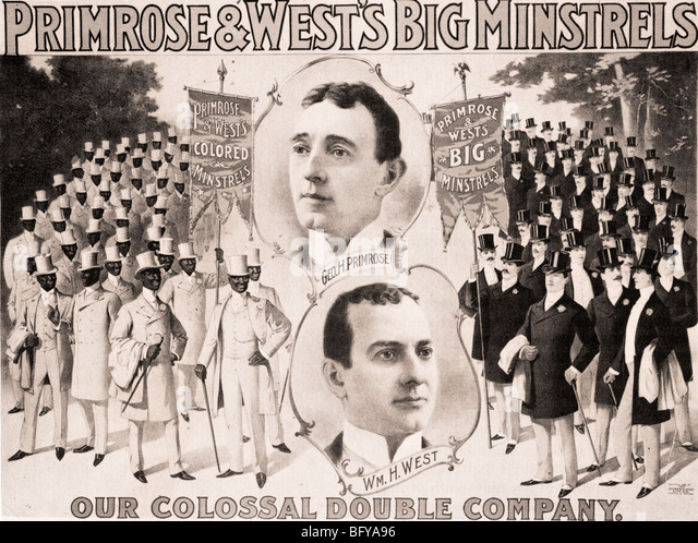 GEORGE PRIMROSE & WILLIAM WEST - American Black-face song and dance duo who formed several Minstrel troupes - Stock Image