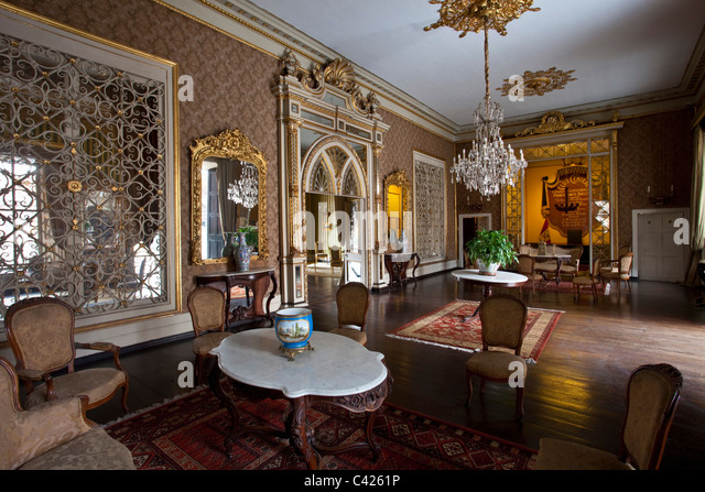 Peru, Trujillo, Colonial room in El Palacio de Iturregui, seat of the Club Central de Trujillo. - Stock-Bilder