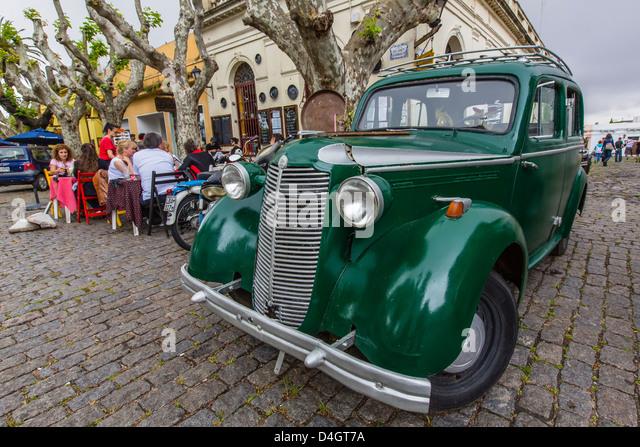 Outside Cafe in Colonia del Sacramento, Uruguay, South America - Stock Image