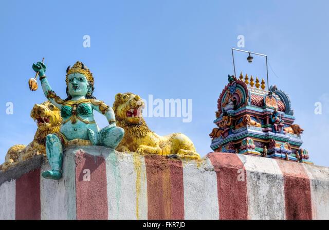 Lakshmi Amman Temple, Kovalam, Chennai, Tamil Nadu, India - Stock Image