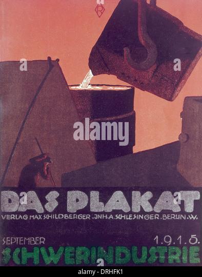 Cover design, German heavy industry - Stock-Bilder