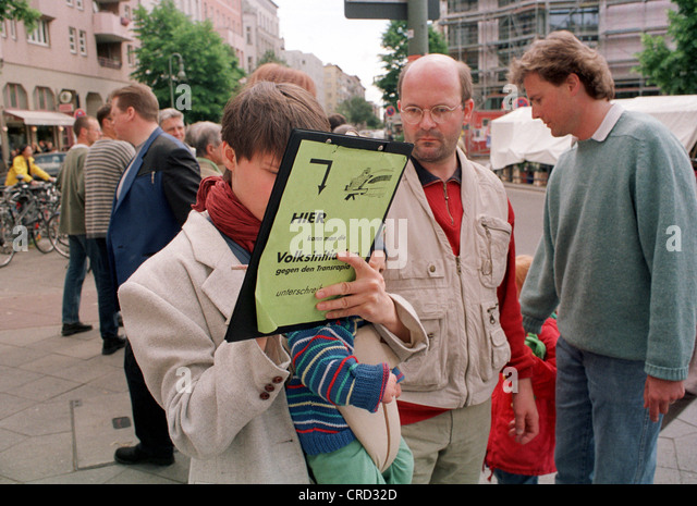 Petition, the popular initiative against Transrapid - Stock Image