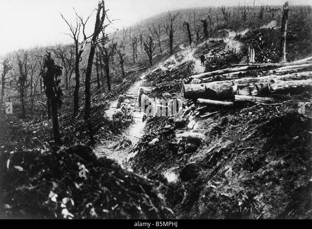 9 1916 10 24 A1 3 E Battle of Verdun 1916 World War 1 1914 18 Western Front Battle of Verdun 1916 The ravine Ravin - Stock-Bilder