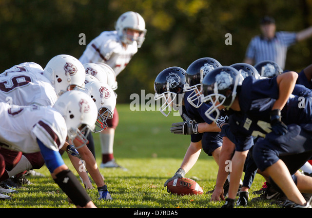 High school football game - Stock Image