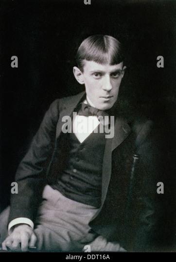 Aubrey Beardsley, British artist, 1890s. Artist: Frederick Hollyer - Stock Image