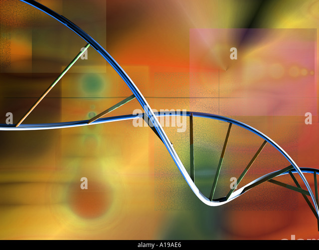 DNA spiral - Stock Image