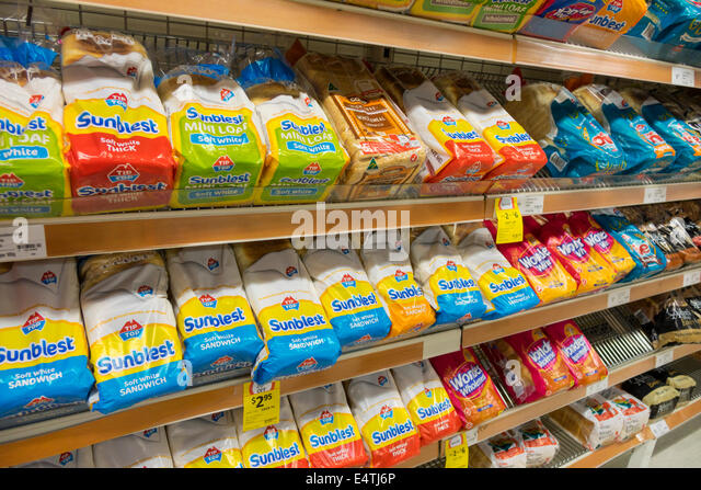 Australia Victoria Melbourne Central Business District CBD Coles Central grocery store supermarket food sale display - Stock Image