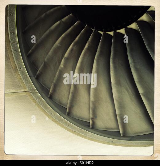 Aircraft engine blades - Stock Image