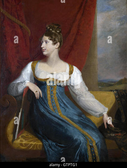 PRINCESS CHARLOTTE AUGUSTA OF WALES (1796-1817) daughter of King George IV painted by George Dawe about 1816 - Stock Image