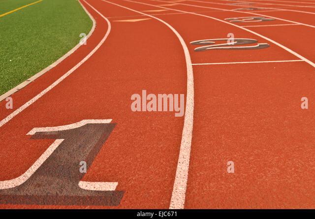 Running Track - Stock-Bilder