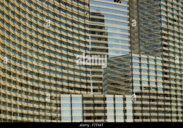 Hotel windows in Las Vegas, Nevada - Stock Image