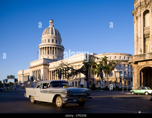 Capitolio, Central Havana, Cuba, West Indies, Central America - Stock Image