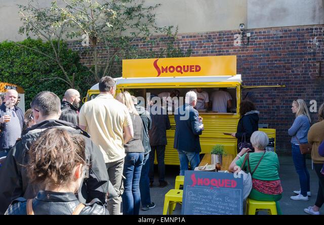 Digbeth Food Festival in Birmingham - Stock Image