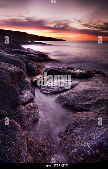 Rocky shoreline, Eyre Peninsula South Australia - Stock Image