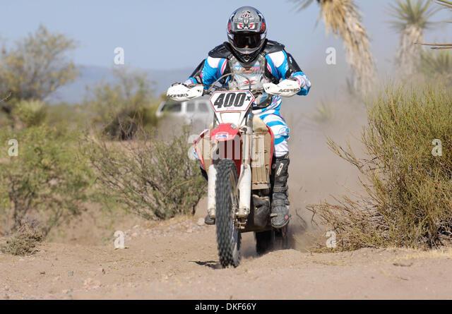 Jun 06, 2009 - Valle de la Trinidad, Baja Norte, Mexico - SCOTT MYERS, winner of Class 40 (riders over 40 years - Stock Image