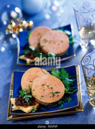 sliced foie gras torchon - Stock Image