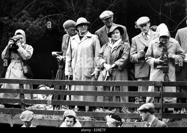 The Windsor Royal Family at a badminton match - Stock Image