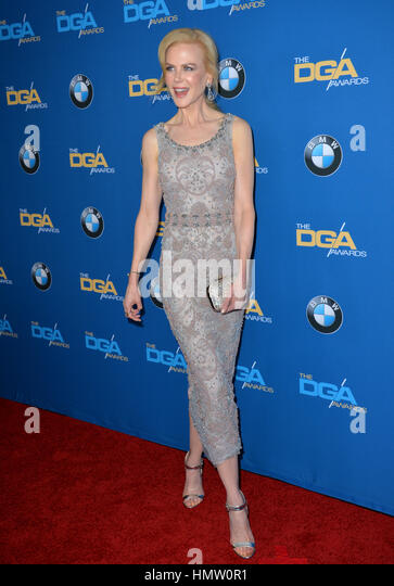 LOS ANGELES, CA. February 4, 2017: Actress Nicole Kidman at the 69th Annual Directors Guild of America Awards (DGA - Stock Image