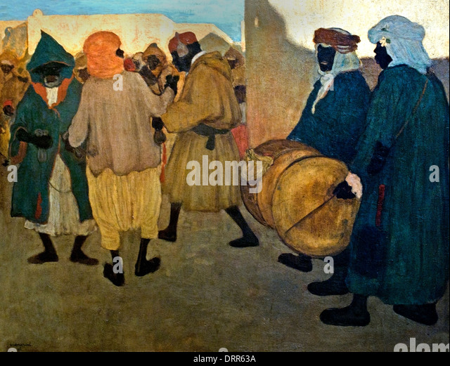 Announcement of the negro Festival Blida Algeria Henri Evenepoel (1872–1899)   Blidah 1898  Belgian Belgium - Stock Image