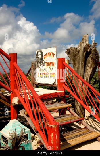 Mexico Cozumel Punta Sur beach Rastas bar - Stock Image