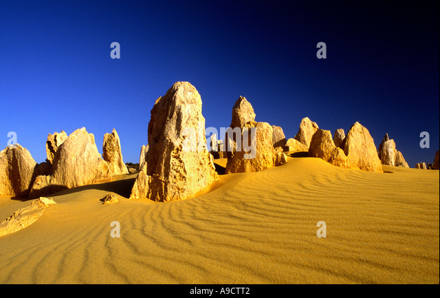 The Pinnacles Desert  Nambung National Park Western Australia - Stock Image