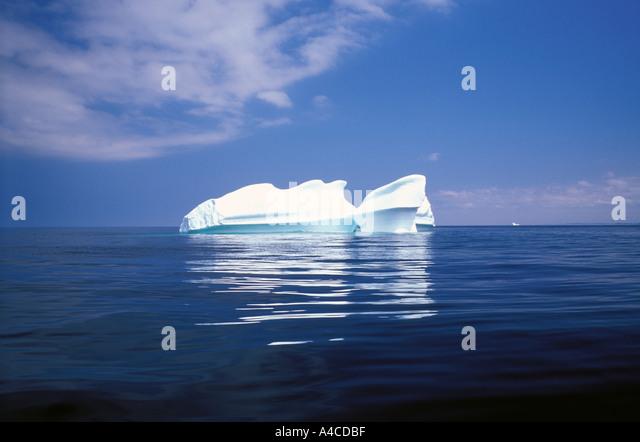 Iceberg in the North Atlantic near Change Islands Newfoundland Canada - Stock Image