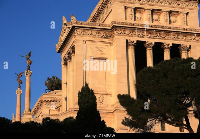 Italy, Lazio, Rome, monument Vitorio Emanuele II - Stock Image