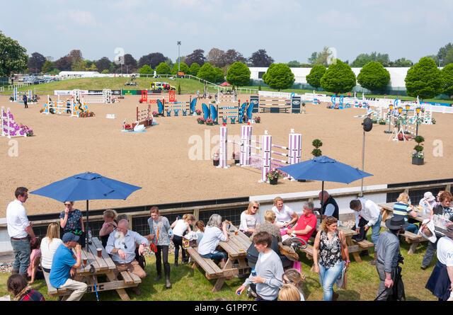Frogmore Show Jumping Arena at Royal Windsor Horse Show, Home Park, Windsor, , Berkshire, England, United Kingdom - Stock Image