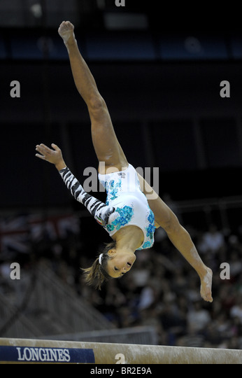 16.10.2009.World Gymnastics Championships at the O2 Arena London.Womens Finals Competition, Photo Alan Edwards© - Stock Image