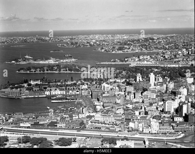 City North - Circular Quay - 26th Nov 1937 - Stock Image