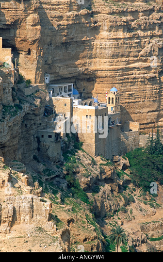 St. George's Monastery, Judean Desert, Israel - Stock Image