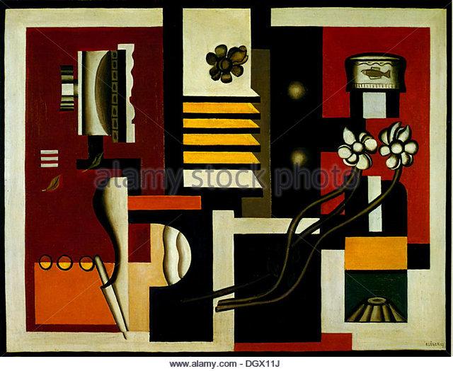 Still Life - by Fernand Léger, 1927 - Stock Image
