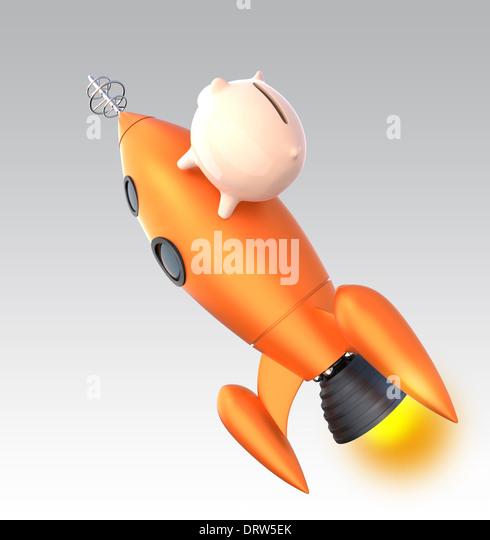Rocketry stock photos rocketry stock images alamy - Rocket piggy bank ...