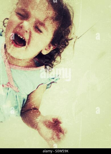 Toddler tantrum - Stock Image