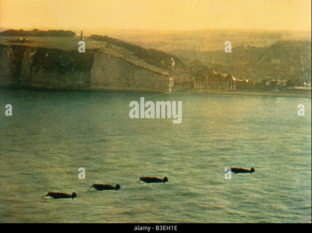 Fighter Aircraft/English Coast/1940. - Stock Image