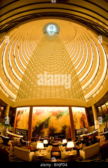 Grand Hyatt hotel in the Jin Mao Tower, Shanghai, China, Asia - Stock Image