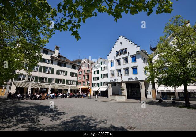 Hechtplatz, Zürich, Switzerland - Stock Image