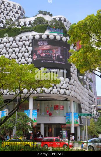 Singapore Bugis+ Plus Victoria Street taxi cab - Stock Image