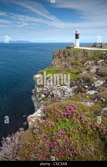 East Lighthouse of Rathlin Island, Northern Ireland - Stock Image