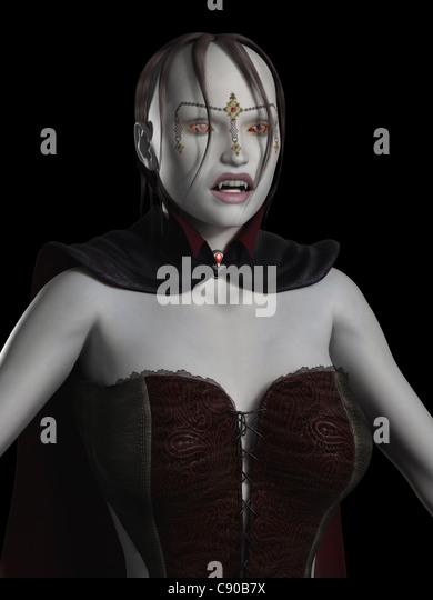 Female Vampire Portrait - Stock Image