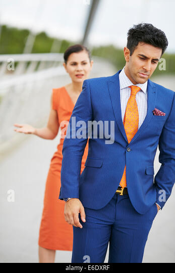 Couple conflict - Stock Image