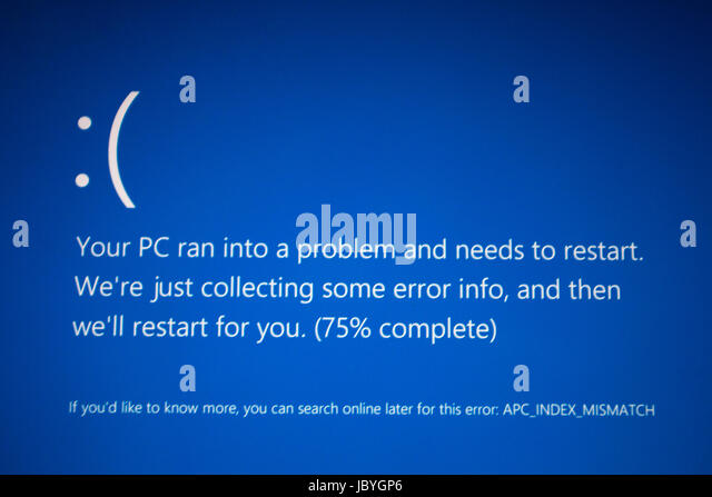 PC Problems - Windows 10 - Stock Image